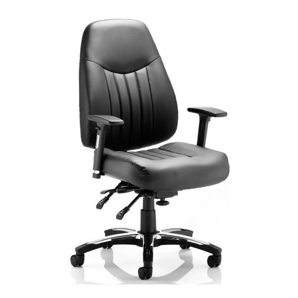 Ashill Deluxe 24 Hour Heavy Duty Office Chair 23.5 Stone